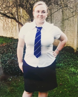 Me, in my 7th Form Uniform from Waitakere College in Auckland, New Zealand #EmergencyLessons ©Literati Girl