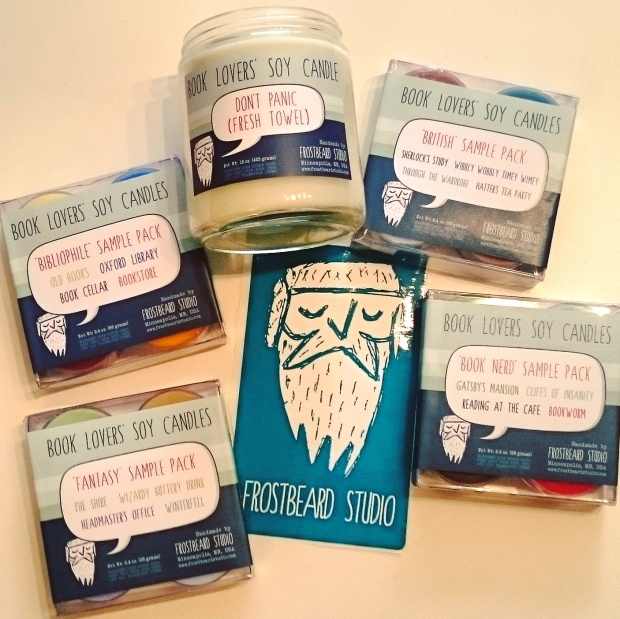Book Lovers' Soy Candles sample packs from Frostbeard Studio on Etsy ©Literati Girl