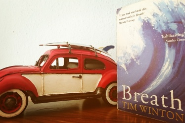 Tim Winton's Breath, one of my favourite examples of Australian Literature and part of my M.A. Thesis studying cultural variations. Highly recommended read, makes you want to pack your bags and head to the beach to surf, while still being a cautionary coming-of-age story with some darker twists. Can't wait to see this realised as a movie as well. Mr Simon Baker ( @snappytoes ) , I would love the opportunity to interview you for my thesis about your movie Breath and your take on Australian culture as reflected in the novel and your film adaptation. #AustralianLiterature #surfsup #noveltofilm #summerreading #bookstagram ©theliteratigirl