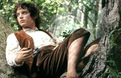Frodo Baggins (Elijah Wood) in The Lord of the Rings: The Fellowship of the Ring, 2001