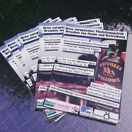 Flyers I designed for the seminar on refugee politics by Prof. Dr. Saggau at NFH Solingen-Theegarten.  ©Literati Girl