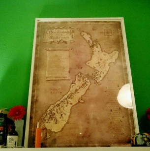 "I don't usually allow strangers a look into my bedroom, but I had to make an exception to show you this gorgeous ""New Zealand - Home of Middle Earth"" map of set locations of The Lord of the Rings on #hobbitday! #lotr #hobbit #newzealand #aotearoa #middleearth #tolkien #godzone #nz ©theliteratigirl"