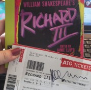 Scored a ticket to see Martin Freeman live on stage as Richard III at Trafalgar Studios, London in July 2014. Gotta study up on the play #Shakespeare #winterofdiscontent #RichardIII #MartinFreeman #bookstagram ©studyreadwrite
