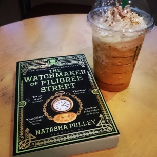 The Watchmaker of Filigree Street by Natasha Pulley. Great book with green-edged pages. I like! New book for my flight home tomorrow! #bookstagram #newread ©theliteratigirl