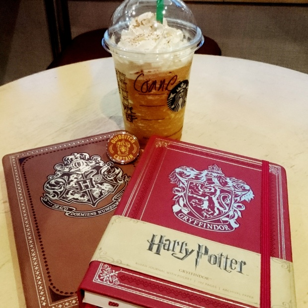 Let's pretend The Three Broomsticks does Pumpkin Spice Frappuccinos now, shall we? ©Literati Girl