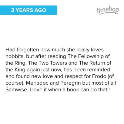 Gotta love hobbits! #Samwise for mayor! Oh wait... 😊 #hobbit #lotr ©theliteratigirl