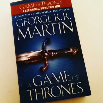 #bookishscavengerhunt16 Day 6: A Book with a weapon on the cover. #gameofthrones #bookstagram ©theliteratigirl