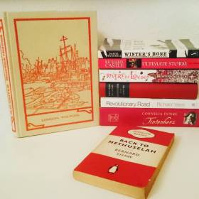 #fallintoreads Day 12: Red & White books. #Bookstack #bookstagram #readingisfun #redandwhite ©theliteratigirl