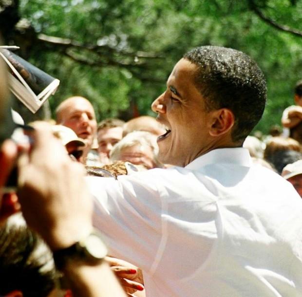 Then-Senator Barack Obama during a rally in Reno, Nevada. May 2007 ©Cornelia Kaufmann